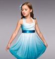 """Candle on the Water"" Girls Lyrical Dress - Style No TH1064C"