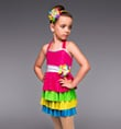 """Gumdrops and Lollipops"" Girls 4-Tier Dress - Style No TH2030C"