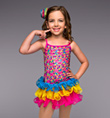 """Neon Rainbow"" Girls Costume Set - Style No TH3013C"