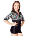 Showstopper Child Sequin Crop Jacket and Shorty Unitard - Style No TH5002C