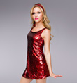 """Va Va Voom"" Adult Sequin Dress - Style No TH5021"