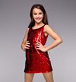 """Va Va Voom"" Girls Sequin Dress - Style No TH5021C"