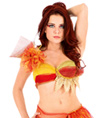 "Adult ""Fire"" Element Bra Top - Style No TT005"