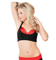 Adult Tank & Bra Layered Crop Top - Style No UC1303