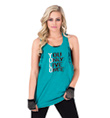 "Adult and Child ""YOLO"" Lace Accent Rocker Tank Top - Style No UC4380"