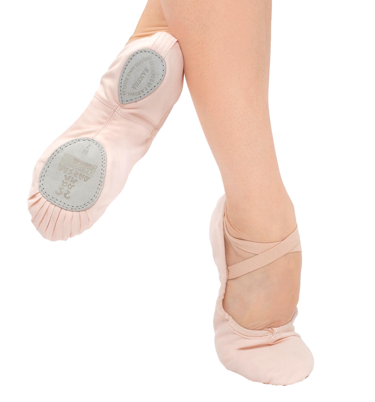 entrechat canvas split sole ballet slippers shoes