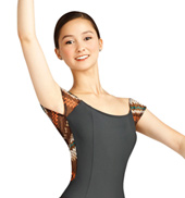 Adult Tribalesque Cap Sleeve Leotard