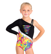 Child Double Strap One Shoulder Leotard