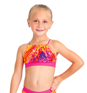 Child Gathered Halter Bra Top