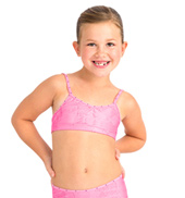 Child Snake Foil Camisole Bra Top