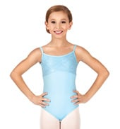 Child Diane Metallic Lace Camisole Leotard