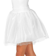 Adult Tulle Mesh Ballerina Pull-On Skirt