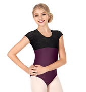 Child/Teen Maria Burnout Velvet Short Sleeve Leotard