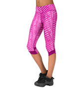 Adult Printed Fly-By Compression Workout Leggings