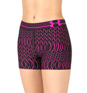 Adult HeatGear Elastic Waistband Printed Fitness Shorts
