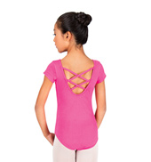 Child Short Sleeve Trestle Back Leotard