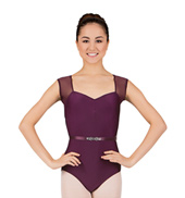 Natalie Wood Cap Sleeve Leotard with Belt