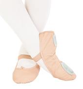Adult Daisy Leather Split-Sole Ballet Slippers