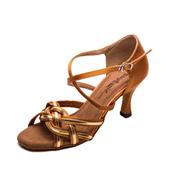 Ladies 2.5 Latin Series Metallic Braid Ballroom Shoe