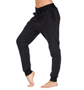 Adult Polka Dot Fleece Harem Pants