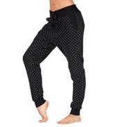 Adult Polka Dot Fleece Harem Pants