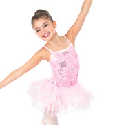 Girls Sequin Rose Camisole Tutu Dress