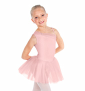 Girls Asymmetrical Tank Tutu Dress
