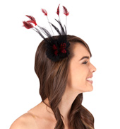 Double Feather Flower Clip
