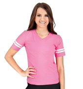 Girls Ringer Short Sleeve Tee