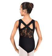 Girls Lace Back Tank Leotard