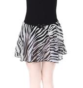 Girls Zebra Print Pull-On Skirt