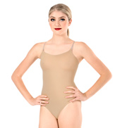 Camisole Leotard with See-Through Straps
