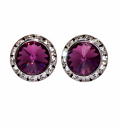 20MM Crystal Earring- Post