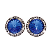 15MM Crystal Earring- Post