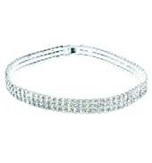 Rhinestone Elastic Choker 13.75