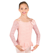 Girls Long Sleeve Lace Pull-Over