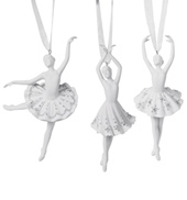 Porcelain Ballerina Ornament