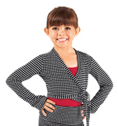Girls Thermal Knit Wrap Dance Sweater