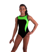 Child Green Apple and Black Leotard