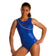 Adult Ocean Blue Striped Leotard