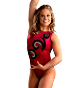 Adult Red Mystique with Curls Leotard