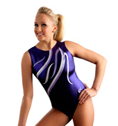 Adult Purple Ribbons Leotard