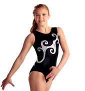 Adult Black and Silver Curls Leotard