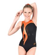 Child Citrus and Black Leotard
