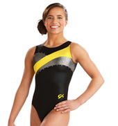 Child Modern Jeweled Gym Tank Leotard