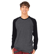 Mens Long Sleeve Raglan Crew T-Shirt