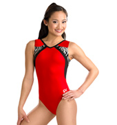 Girls Red Zebra Tank Leotard