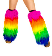 Furry Rainbow Legwarmers
