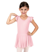 Girls Mesh Flutter Sleeve Dress