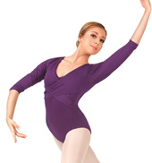 Adult 3/4 Sleeve Wrap Leotard